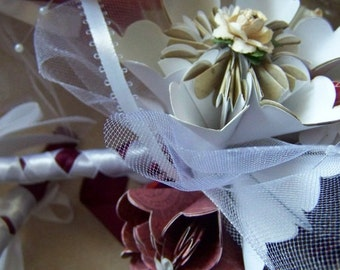 Origami Wedding Bouquet Plus Lilies Includes 10 Flowers