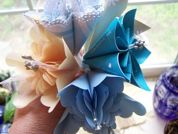 15 Fancy Kusudama Origami Paper Wedding Flowers With Stems
