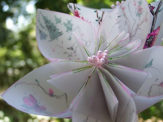 Items similar to Cherry Blossom Origami Kusudama Paper ... - photo#44