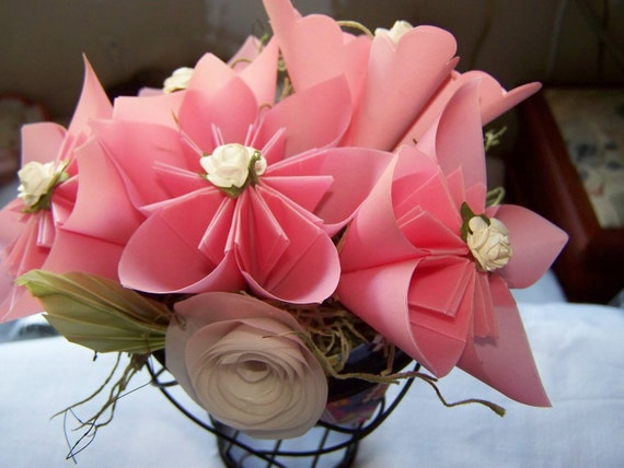 Origami Kusudama Floral Centerpiece for Wedding, Gift, or Home Decor Color Customized