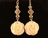 Stone Rose Earrings