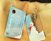 Upcycled Gift Card Earrings