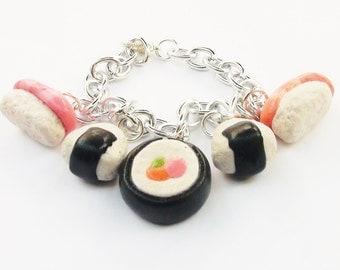 Sushi Themed Charm Bracelet