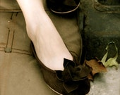 Dark chocolate suede handmade flats MADE to your MEASUREMENTS