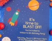 Rocketship Collection Invitations - DIY Printable Parties