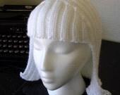 Pure White Hat Hair
