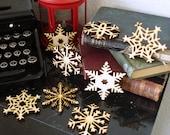 Wood Snowflake Ornaments