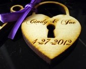 120 Heart and Key Wedding Favors