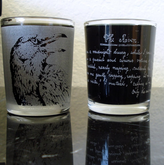 The Raven Shot Glass Set