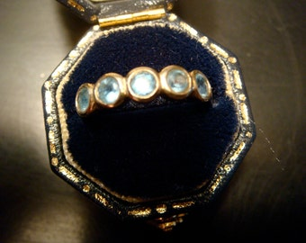 vintage gold and sterling silver topaz ring