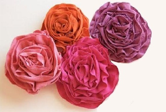 Items similar to T Shirt Fabric Flowers PDF Tutorial on ...