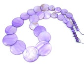 Coin Purple MOP Shell Loose Strand 17inch 6mm-28mm