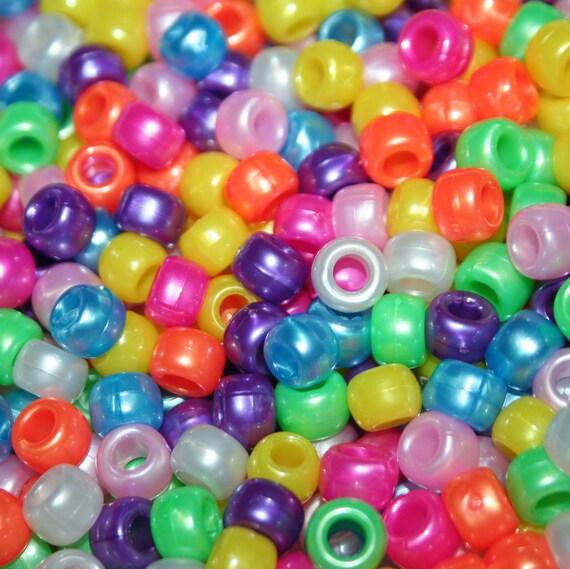 750 Rainbow Pearl Pony Beads
