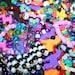 10 Random Kandy Kandi Candy Candi Bracelets Colorful Plastic