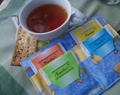 Froggy Tea Time Tea Bag Wallet (Makes A Great Gift Or Shower Favor)....Choose Your Favorite