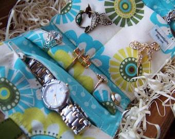 Mini Jewelry Roll-Up Travel Clutch by GrammiesQuiltz