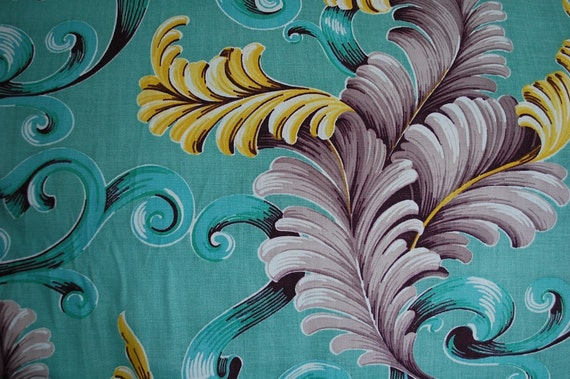 Reserve listing for Anita--Vintage Green Cotton Fabric