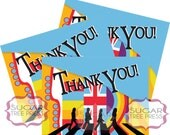 Beatles Inspired Thank You Cards - Instant Download - Foldable or Flat