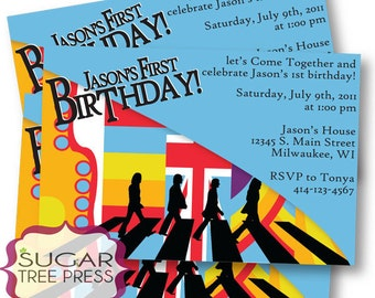 Printable - Beatles Inspired Birthday Invitation - U Print