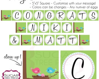 Printable - Twins OR Triplets Baby Shower Banner