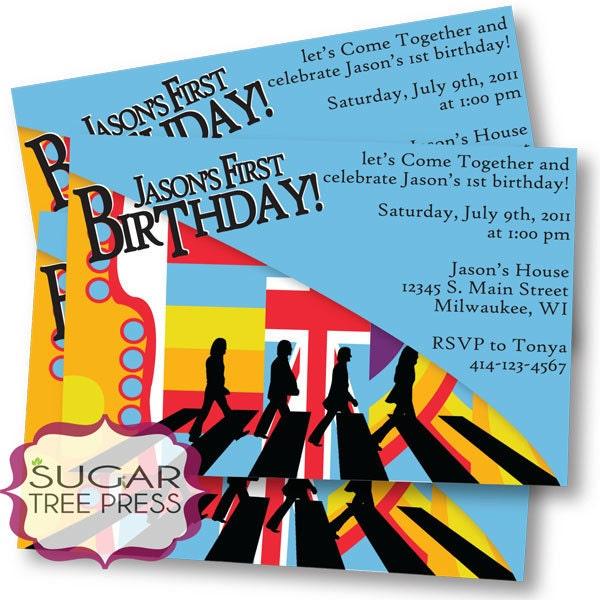 Printable Beatles Inspired Birthday Invitation U Print
