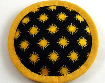 Catnip Toy, Sun Cat Toy, Black and Marigold Pillow, Cat Toys, Sun Pillow, Juguete Sol NIGHT SUN