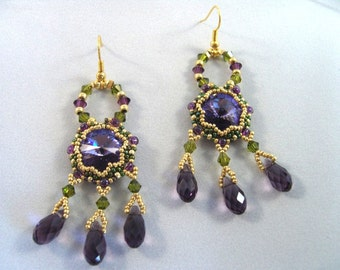 Pattern / Tutorial Beaded Earrings