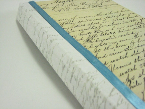 Vintage Handwriting Journal Notepad Notebook Sketchbook