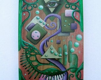 The Shape of Things to Come - Wood Panel Original Art