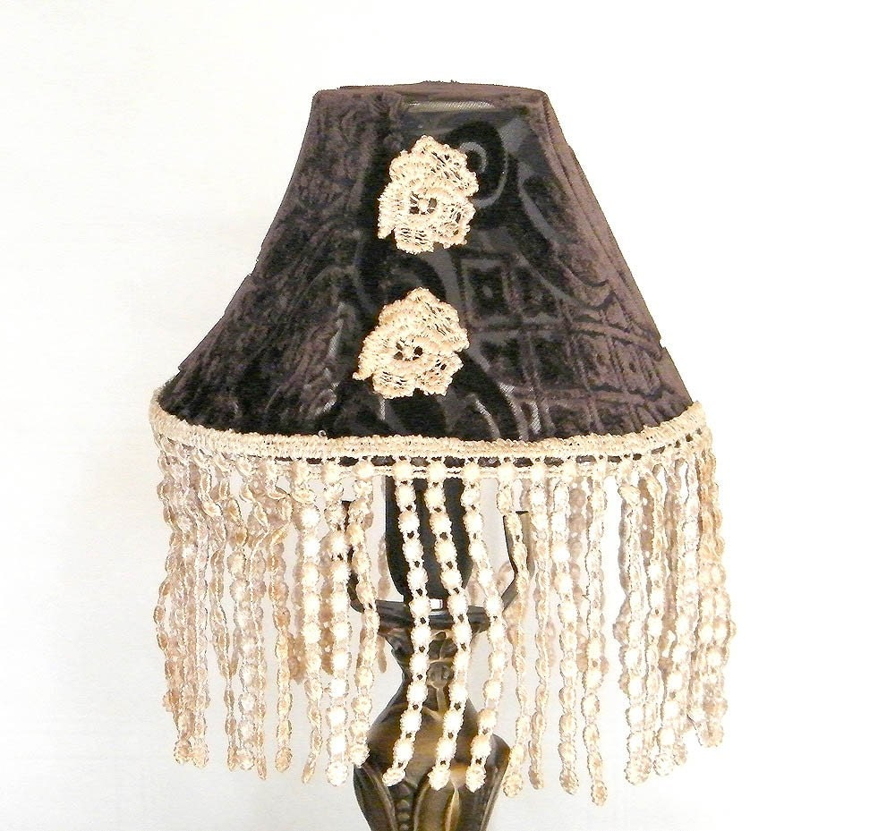 two lamp shade reserved to sloan shabby chic table by mintook. Black Bedroom Furniture Sets. Home Design Ideas