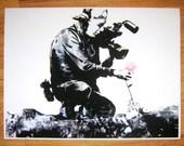 Banksy Custom Print - 24x32 Camera Filming Flower