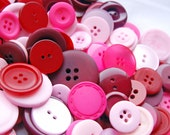 Pretty Pink and Red Buttons X 100g Mixed Buttons