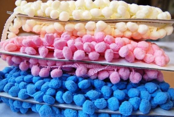 Nom-Nom Ice Cream Shades Pom-Pom Trims X 3mtrs
