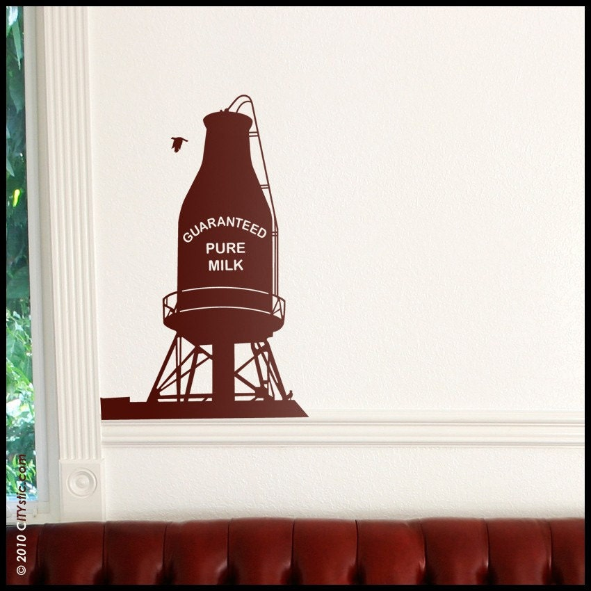 montreal wall decal canadian milk water tank downtown
