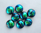 Dichroic Fused Glass Medium Sized Cabochons 3480