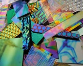 1/2 Pound Dichroic Glass Scrap 96 Coe - Fused Glass - Jewelry Making - Dichroic Jewelry