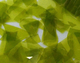 Lemon Yellow (Turns Lemon-Lime) Green Shards/Confetti Glass 96 Coe