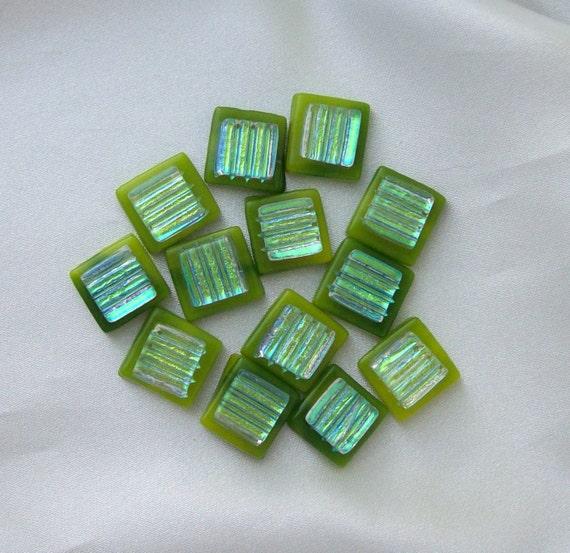 Dichroic Fused Glass Mini Cabs 5629
