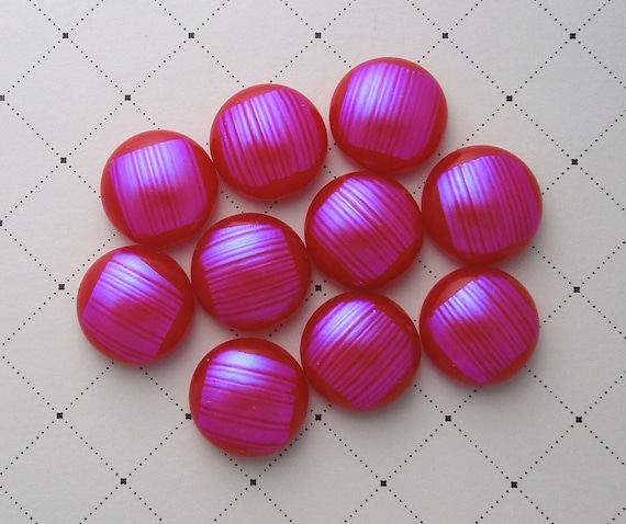 Dichroic Glass Mini Cabs, Dichroic Beads, Dichroic Cabochons, Glass Beads, Buttons 2315