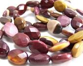 faceted Moukaite jasper beads 14mm x 10mm, HALF strand (270S)