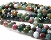 Fancy Jasper beads, 6mm round gemstone bead, Full & Half strands available  (107S)