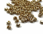 Crimp Bead Covers 3mm Gold plated 40 pieces (359FD)