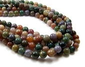8mm Fancy Jasper beads, colorful round natural gemstone, Full & Half strands available  (394S)