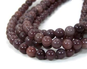 Purple Aventurine beads, 6mm round natural gemstone, full & half strands  (427S)