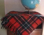 SALE 20% off - FREE SHIPPING Vintage Faribo Wool 100 percent wool plaid throw