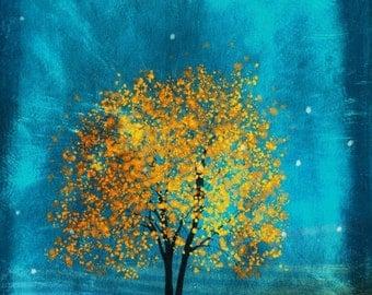 Golden Leaves -- 8x10