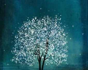 Sapphire Wind -- 11x14 tree art print giclee print, art, tree art,print,gift,art collectibles,wall art,wall decor,wall decor