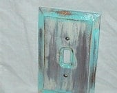Beach Bungalow Shabby Cottage Reclaimed Wooden Light Switchplate Cover