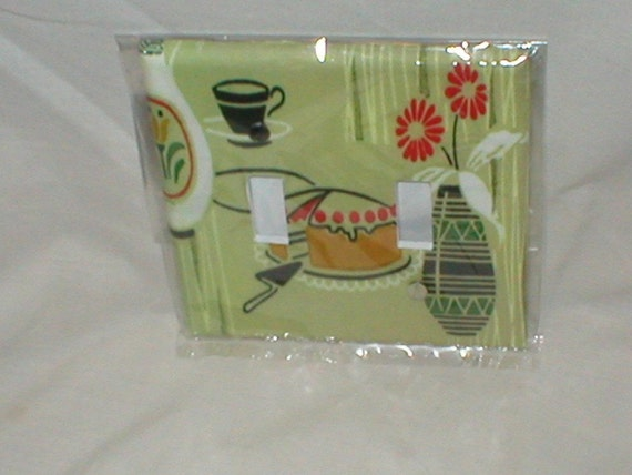 Retro/Kitsch Kitchen Design Decorative Light Switchplate Cover Double Toggle