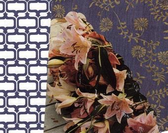 Blue Lillies, Blue Valentine - Blank Greeting Card